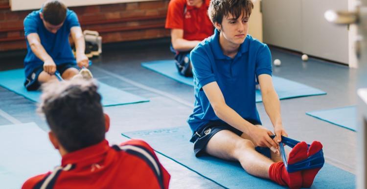 pupils doing pilates