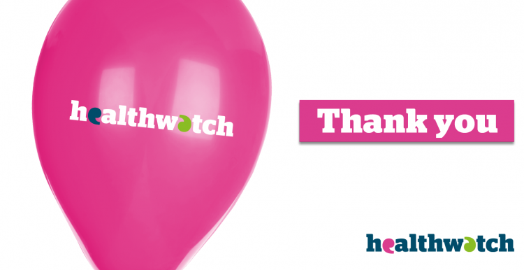 Healthwatch thank you balloon