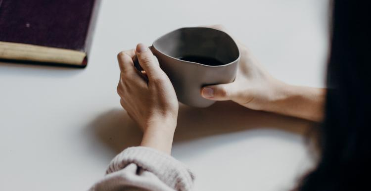 person with a coffee