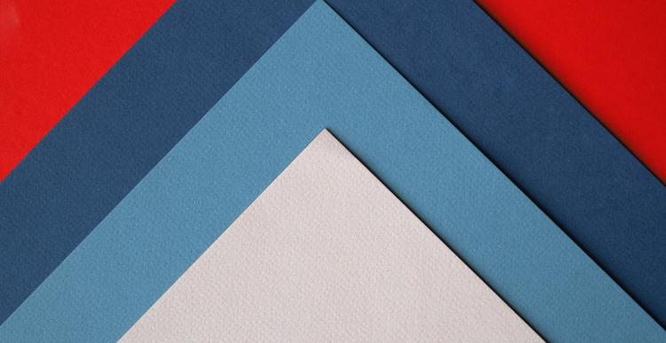 red white and blue triangle pattern