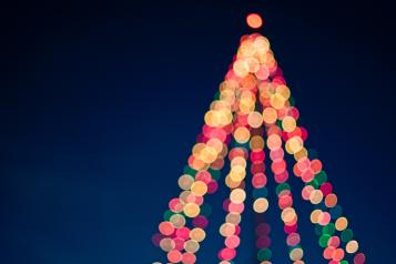 coloured christmas lights