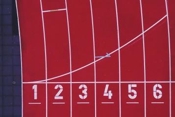 six lanes running track