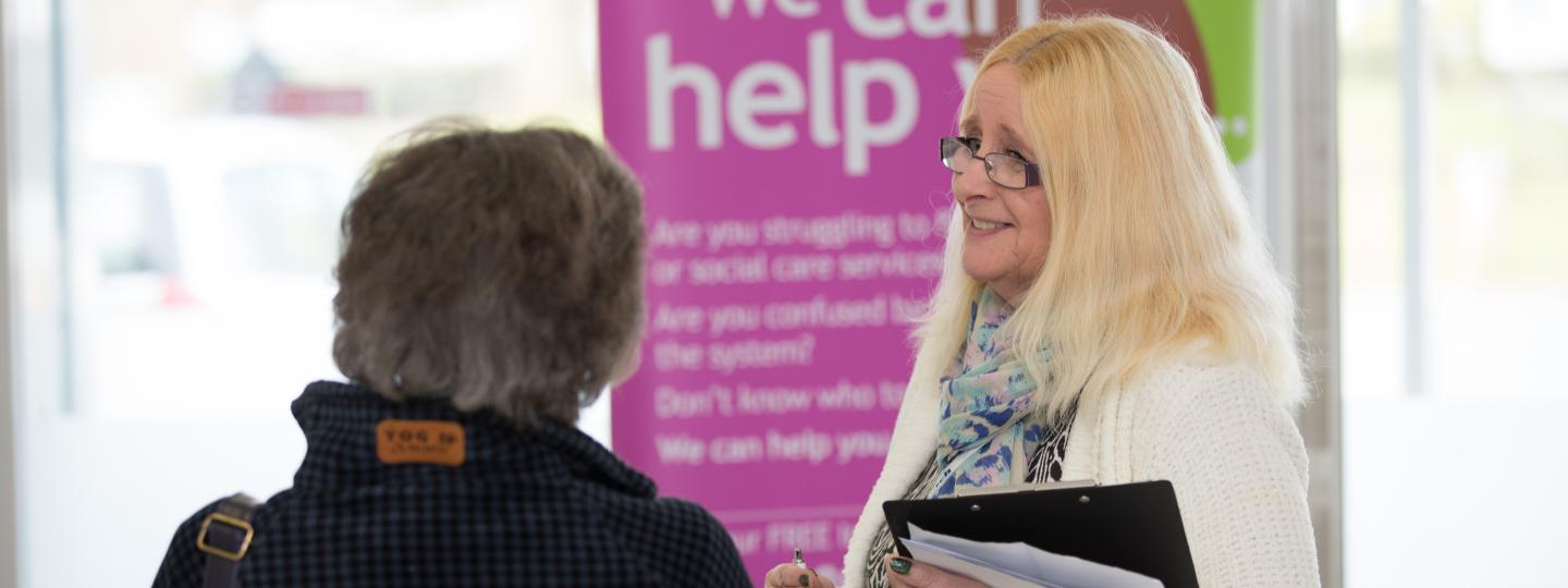 Volunteer asking people's views on health and social care