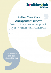 Information provision for people living with long term conditions report front cover