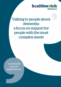 Dementia supporting complex needs front cover