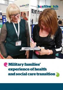 Military families report front cover